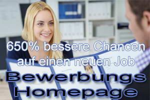 Bewerbungshomepage